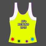 80'S REWIND PERSONALISE - womens athletic shirt gradient