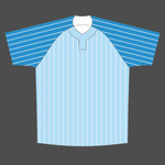 Baseball loose fit shirt Y neck stripes