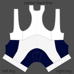 semi custom bib shorts navy