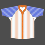 Baseball shirt Y neck 5 colored stripes
